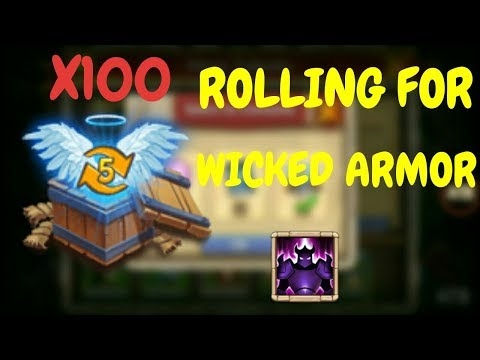 Rolling For Wicked Armor L Opening Up 100 Level 5 Talent Chests L Castle Clash