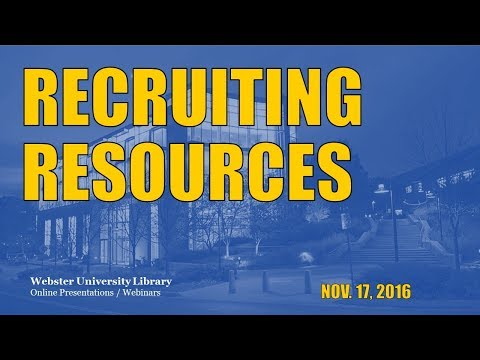 Seeking Potential Students in Your Local Market?: Using Online Resources for Recruiting