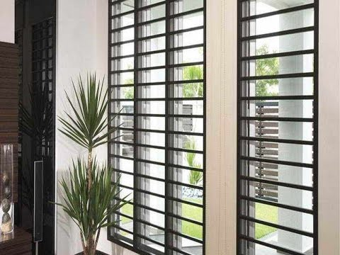 Modern window grill ideas so innovative youtube for Modern window styles