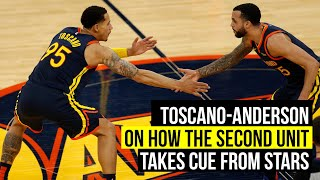 Toscano-Anderson on how second unit takes cues from Curry and Green