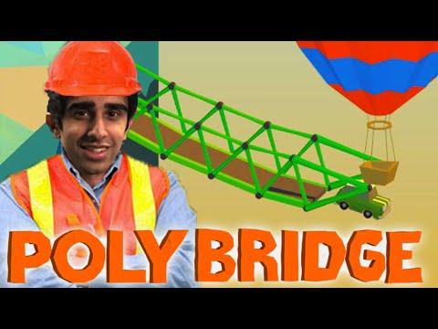 POLY BRIDGE #6 'HOT AIR BALLOONS?!' with Vikkstar