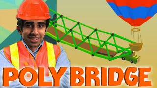 POLY BRIDGE #6 'HOT AIR BALLOONS?!' with Vikkstar