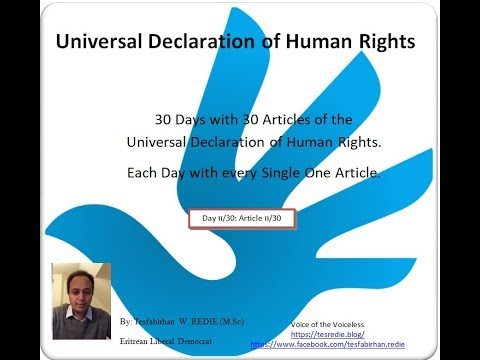 Article 11: Universal Declarataion of Human Rights - Tigrigna discussion