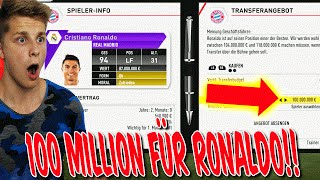 FIFA 17 KARRIEREMODUS - 100 MILLIONEN für RONALDO! - FC BAYERN KARRIERE GAMEPLAY (DEUTSCH)