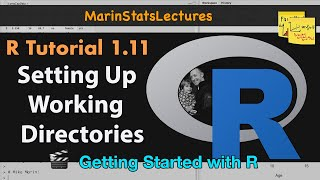 Setting Up Working Directory in R  | R Tutorial 1.11 | MarinStatsLectures