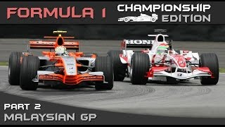 F1 Championship Edition Career Mode Season 2 - Round 2 Malaysian Grand Prix