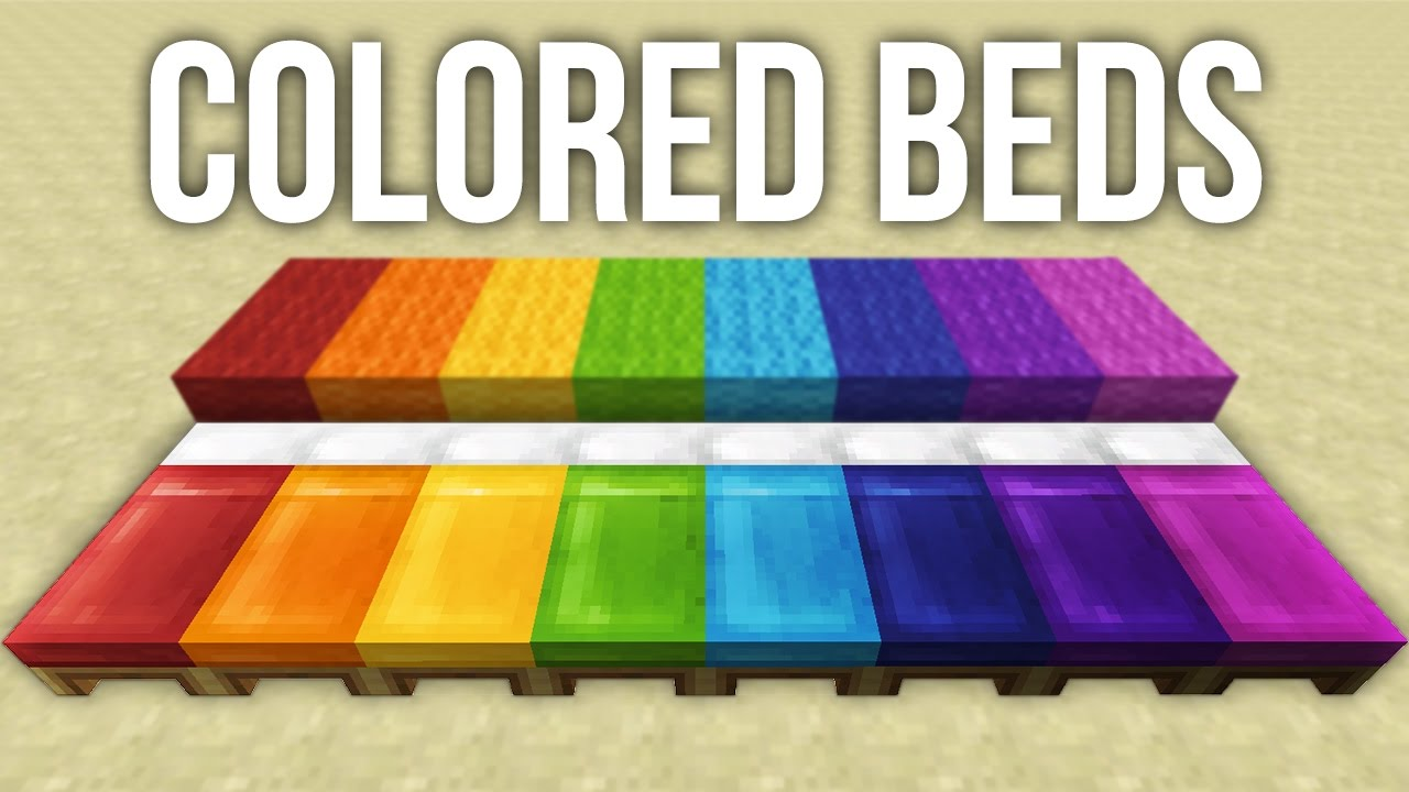 How To Make A Different Color Bed In Minecraft