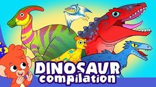 Çocuklar | Sevimli için Korkunç Dinozorlar ve Dinozor Çizgi film videoları | Club Baboo öğrenin