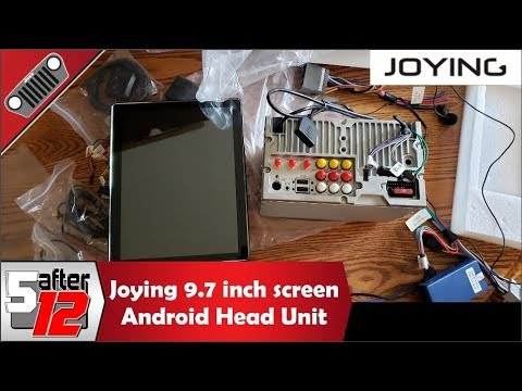 Joying 9.7 inch double din Android head unit - unboxing