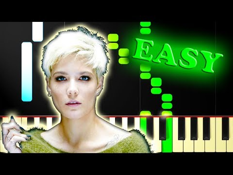 HALSEY - BAD AT LOVE - Easy Piano Tutorial