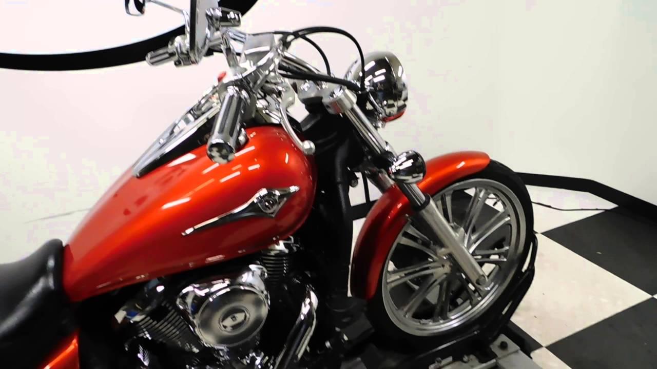 2009 Kawasaki Vulcan 900 Custom Orange Used Motorcycle For Sale Eden Prairie Mn