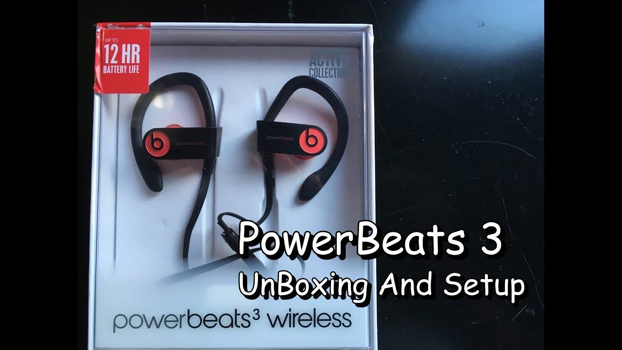 Powerbeats3 Unboxing And Setup Youtube
