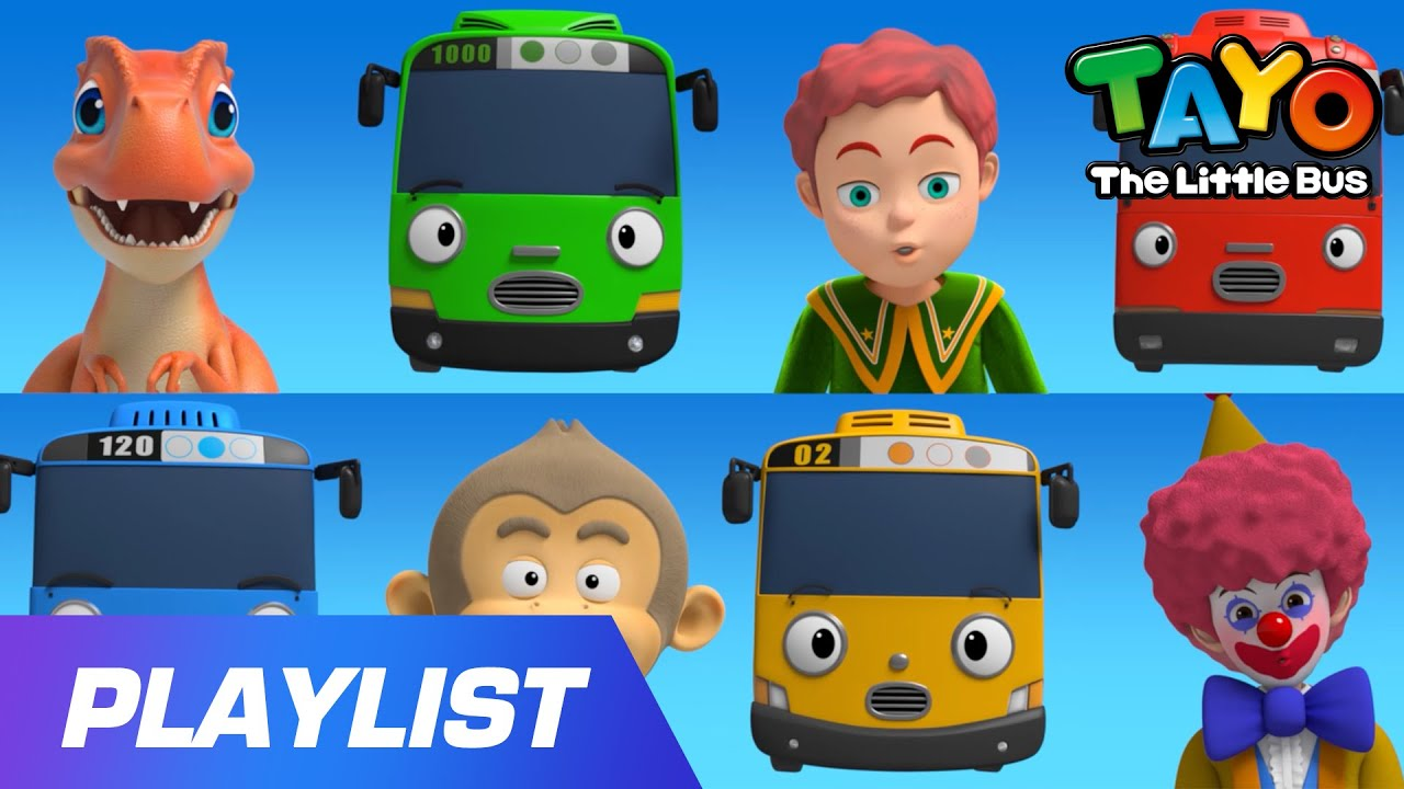 [20min] Play Safe Song with Tayo l Line Up! l Get In Line Song l Tayo Sing Along Special
