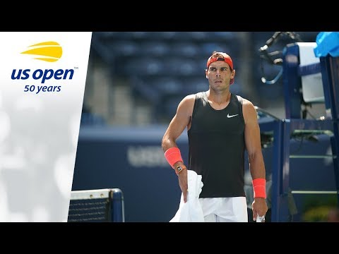 Rafael Nadal Practice on P1 at 2018 US Open