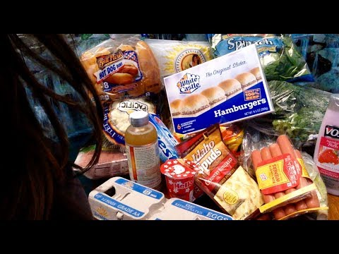 ASMR Commissary Shopping Haul 22 items $36 Soft Spoken up Close to the Mic, Gentle Gum Chewing