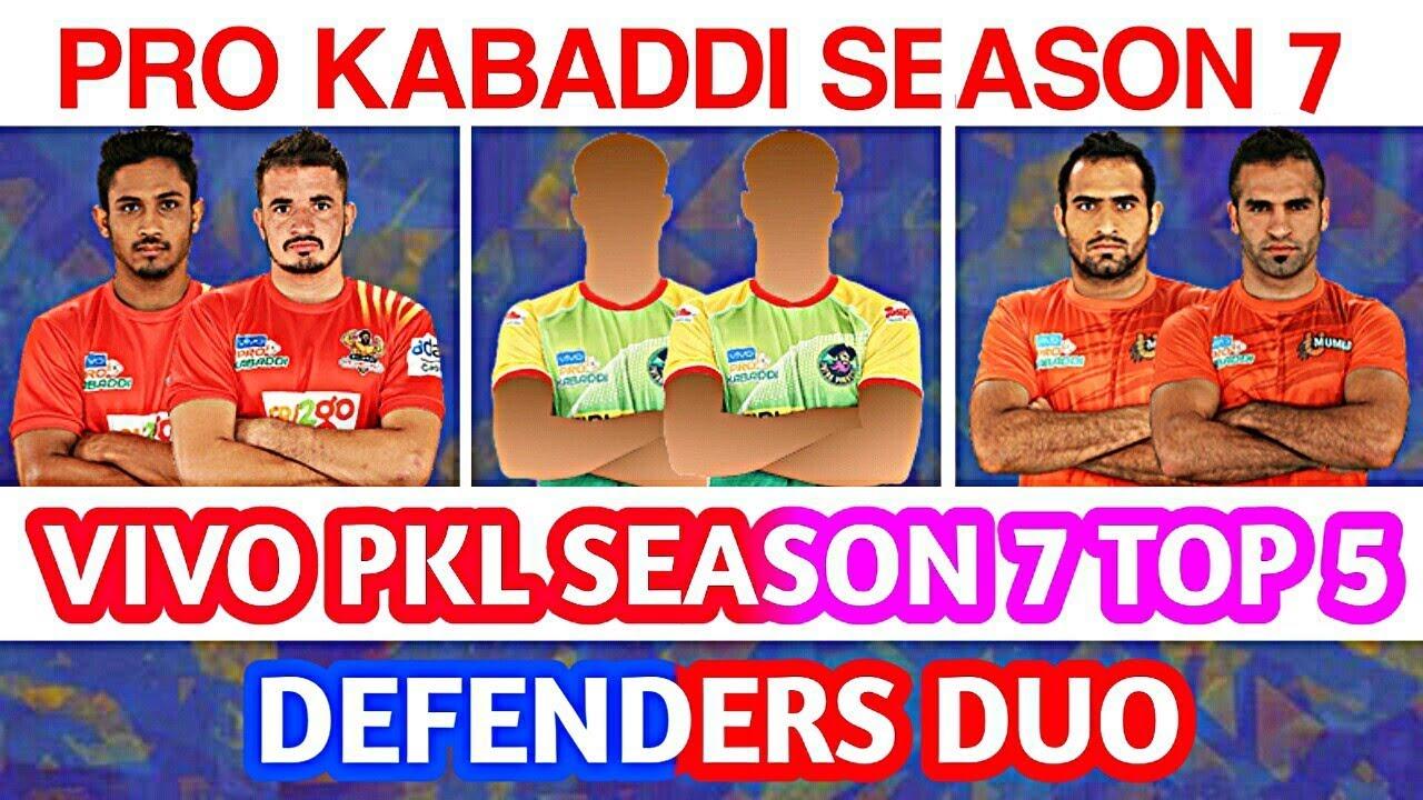 Pro Kabaddi Season 7 Top 5 Defenders Duo Youtube