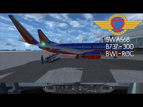 FSX | Wilco 737-300 Evolution | SWA568 | Baltimore (BWI) - Rochester (ROC)