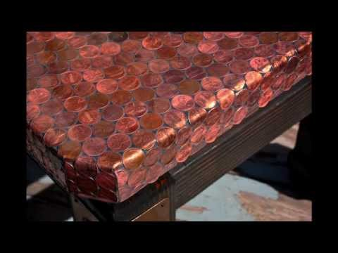 Making A Penny Covered Table Youtube