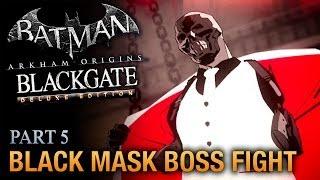 Batman: Arkham Origins Blackgate Walkthrough - Part 5 - Black Mask Boss Fight [Deluxe Edition]