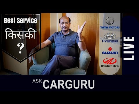 Car Service, CARGURU about ground condition of service Survey. Maruti, Hyundai, Mahindra & Tata
