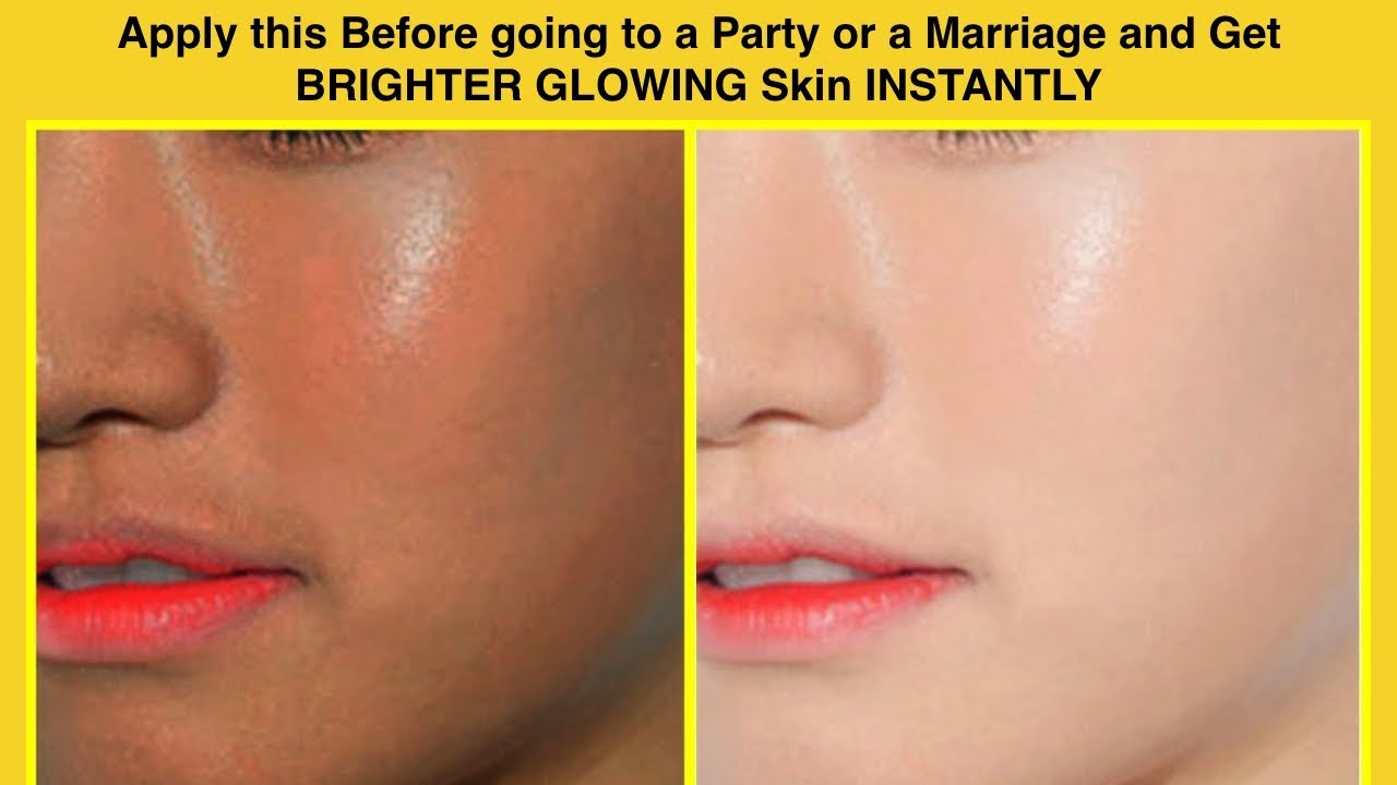 Apply this before Going to a party or a marriage and get BRIGHTER GLOWING  skin INSTANTLY