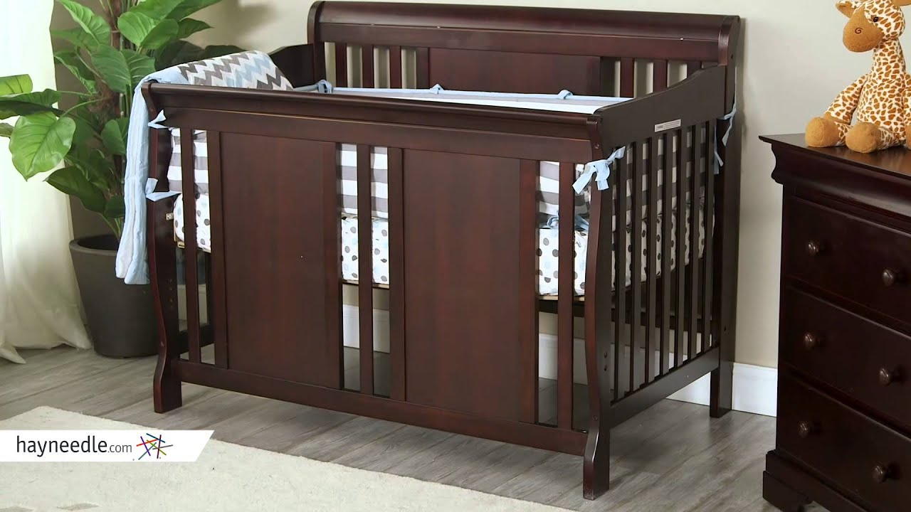 Thomasville Dover 3 In 1 Convertible Sleigh Crib Espresso Product Review Video