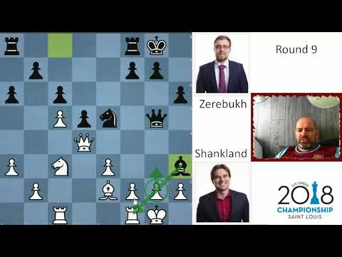 Shankland fairytale continues - sole leader after 9 rounds | Shankland - Zerebukh | US Chess Champs