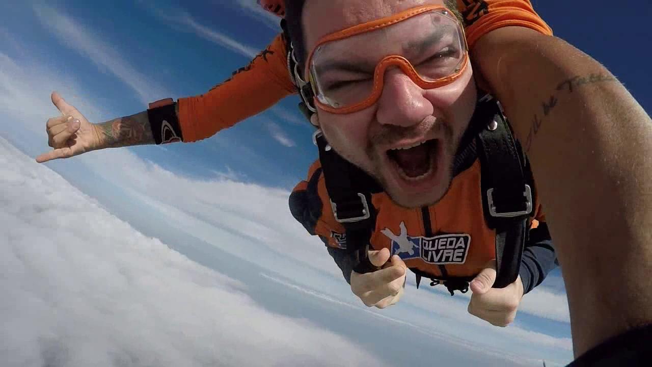 Salto de Paraquedas do Fabio P na Queda Livre Paraquedismo 29 01 2017