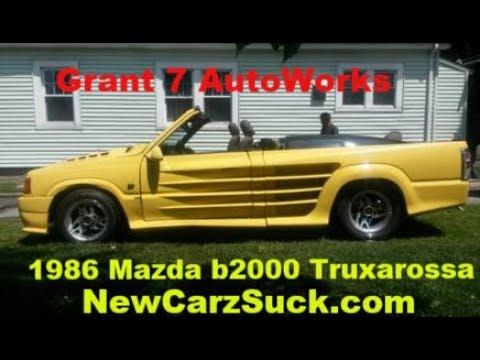 Truxarossa Project - 1986 Mazda B2000 Widebody Convertible - Grant 7 AutoWorks NewCarzSuck.com