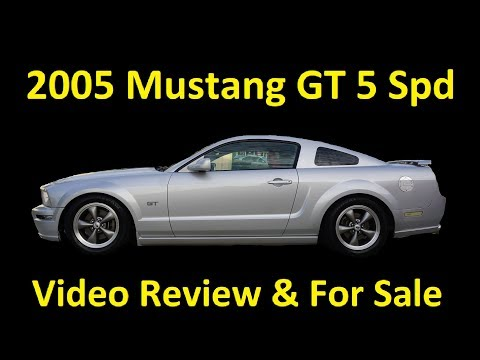 2005 FORD MUSTANG GT V8 5 SPEED MANUAL VIDEO REVIEW