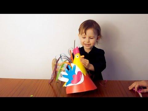 Год петуха  Новогодний петушок  Делаем Петушка дома своими руками  Цветной петушок