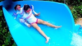 ホテルのプールとビーチで遊びました outrigger guam beach resort
