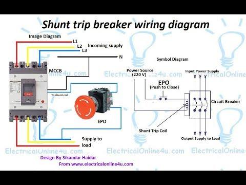 Shunt Trip Breaker Wiring Diagram In Urdu & Hindi || How To Install A Shunt Trip Breaker  YouTube