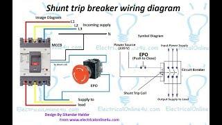 Shunt Trip Breaker Wiring Diagram In Urdu & Hindi || How To Install A Shunt  Trip Breaker - YouTubeYouTube