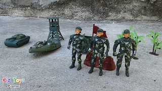 Military boat Toy soldiers Army men & Fighter Jet