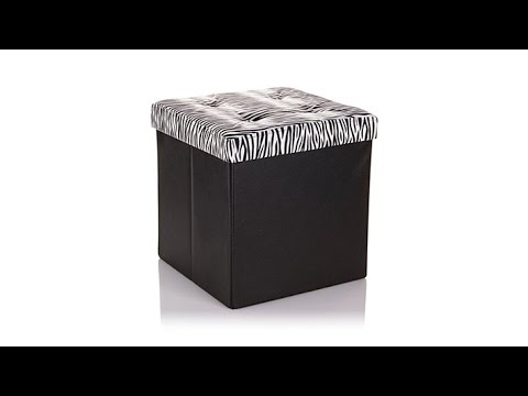 Folding Storage Ottoman with Removable Lid - Folding Storage Ottoman With Removable Lid - YouTube
