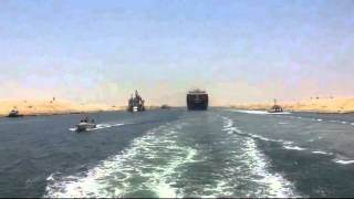 Video exclusive first new crossing of the Suez Canal ship June 25