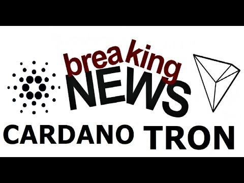 TRON & CARDANO BREAKING NEWS: Super Elections & Great Partnership