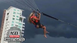 Woman Survives After Parasailing Rope Snaps
