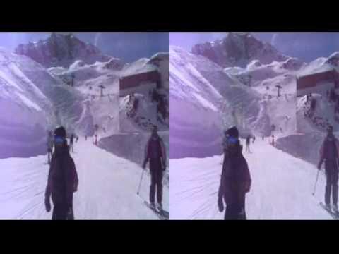3D Skiing Tignes 2011