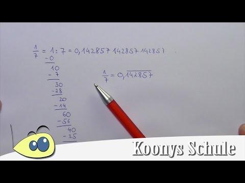 Beispiel 1/7 in Dezimalzahl umwandeln, Bruch mit Dividieren umrechnen from YouTube · Duration:  5 minutes 1 seconds