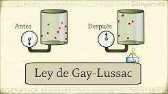 Química: Ley de Gay-Lussac (relación entre la temperatura y la presión )