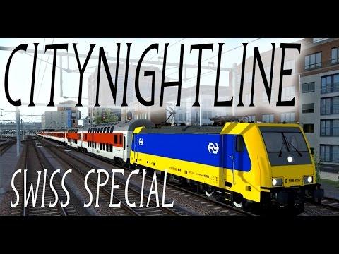CityNightLine in Train Simulator 2015 (NL) Swiss Special