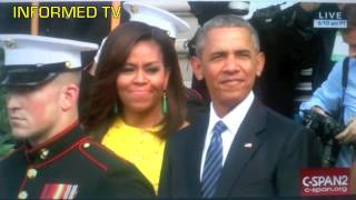 Michelle Pulls Big Booger Out Barack Obama's Nose
