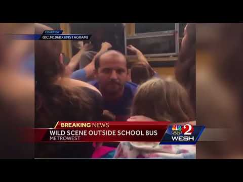 Video shows students being dragged from school bus