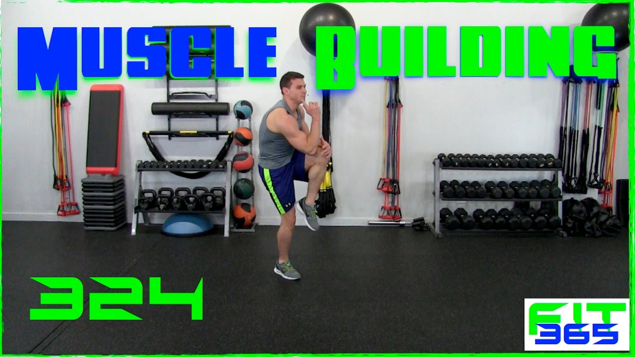Advanced Muscle Building Bodyweight Workout - YouTube