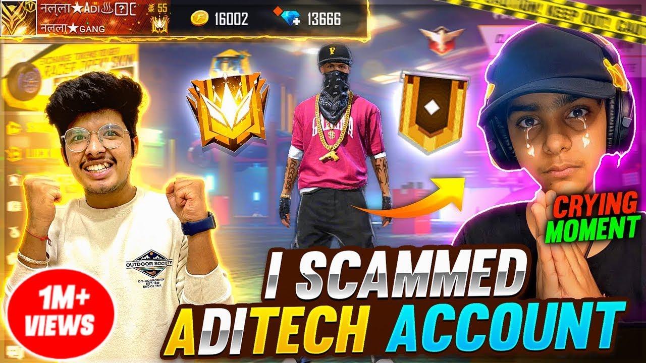 I SCAM ADITECH HIP-HOP BUNDLE ID 😎 Wasting All Diamond & Kicked His Brother Biggest Fraud -Freefire