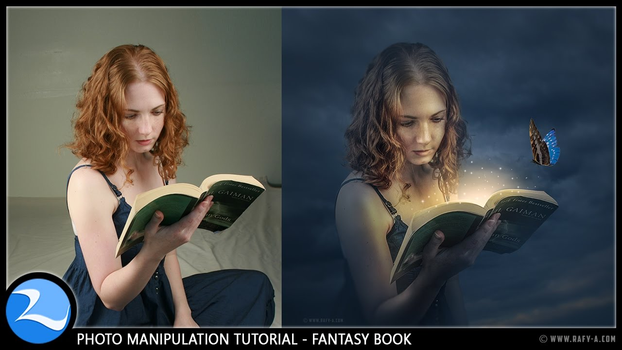 Photo Fantasy Book Cover Tutorial ~ Fantasy book manipulation effects photoshop tutorial youtube