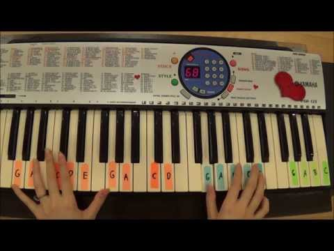 Taylor swift- Invisible piano tutorial- Part 1