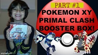 Pokemon XY Primal Clash Booster Box Opening PART 1! Jenna Em Channel